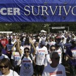 Participants start National Cancer Survivors Day march in Chicago