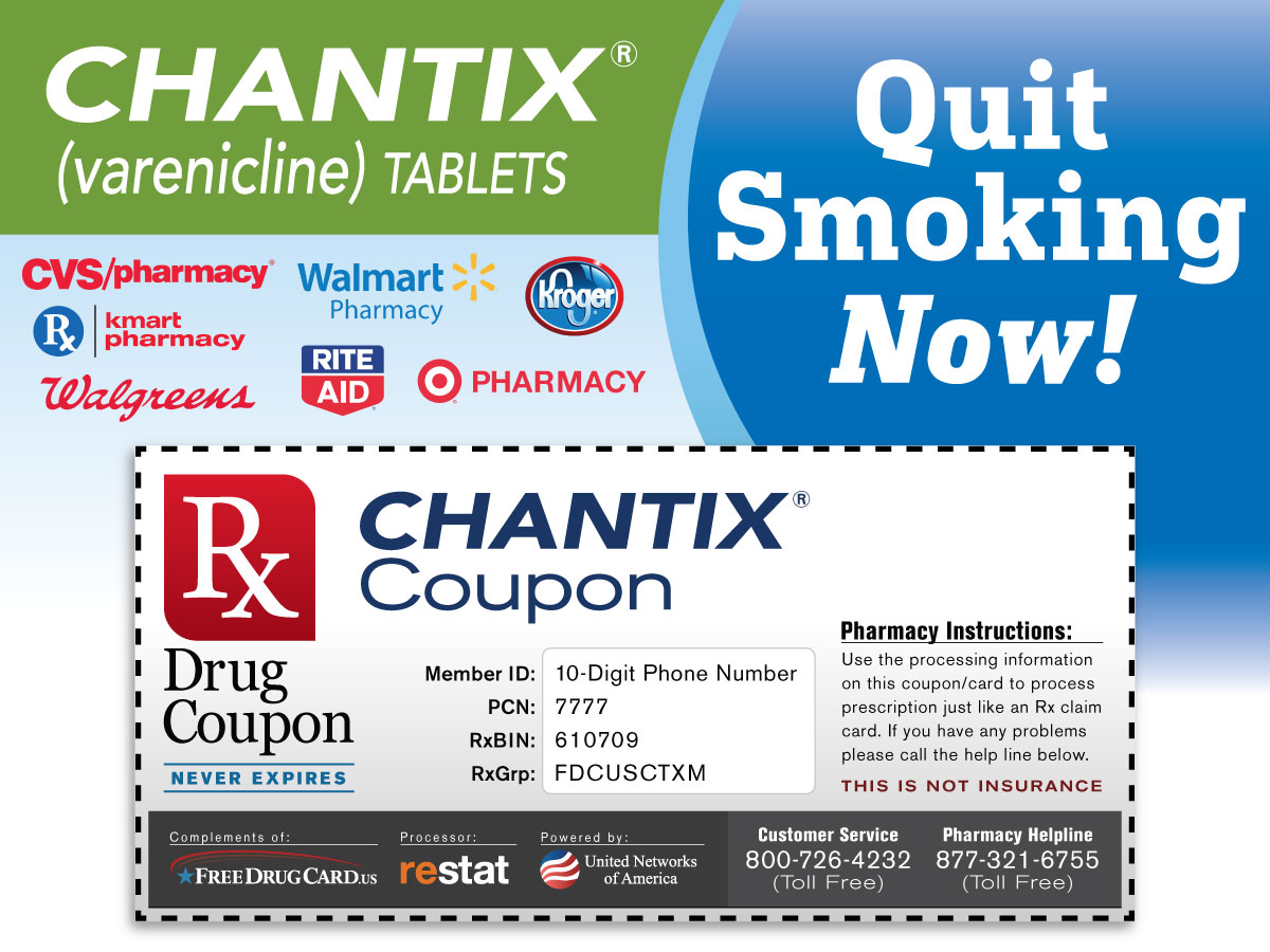 chantix coupon one month free