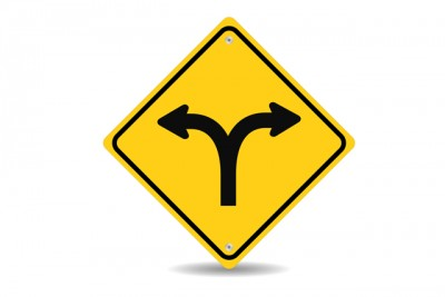 Fork-in-the-road-roadsign-division-diverge-two-ways-large